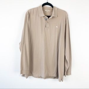 Men's Burberry Long-Sleeve Polo